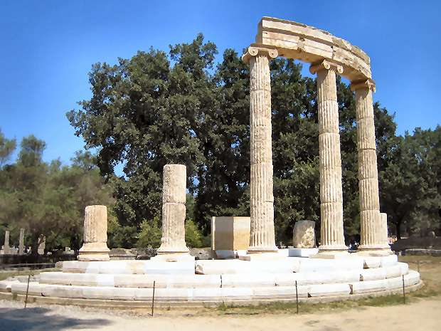 Temple at Ancient Olympia